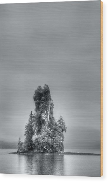 Eddystone Rock Misty Fjords National Monument Alaska Wood Print