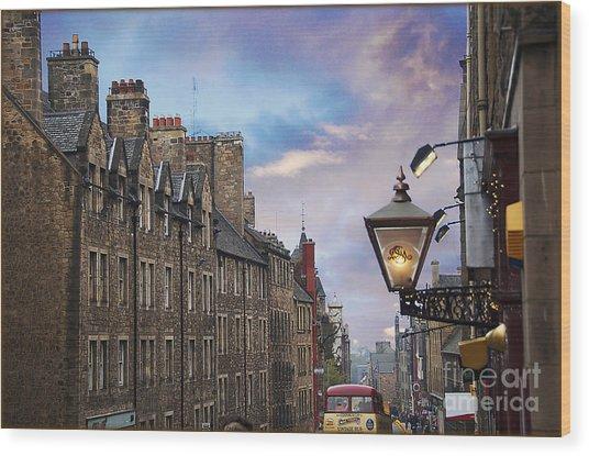 Edinburgh Mile Wood Print