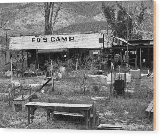 Ed's Camp Wood Print