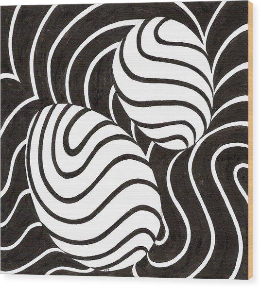 Egg Drawing 059711 Wood Print