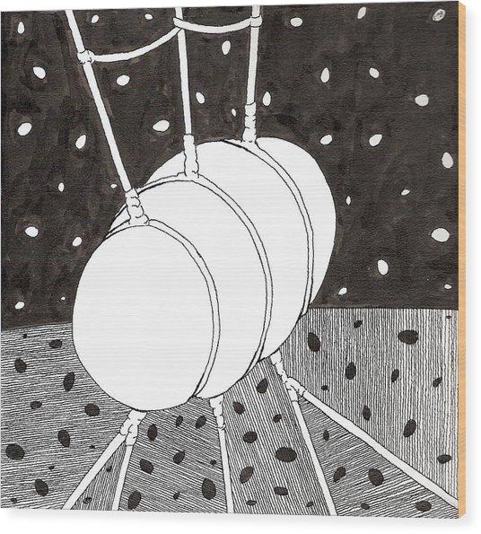 Egg Drawing 059836 Wood Print