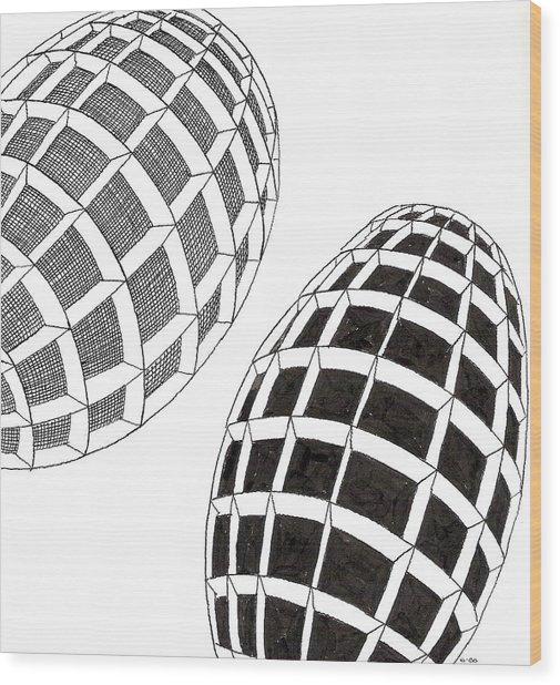 Egg Drawing 060026 Wood Print