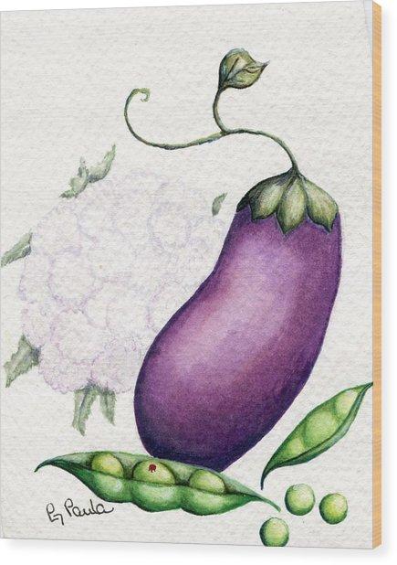 Eggplant Surprise Wood Print