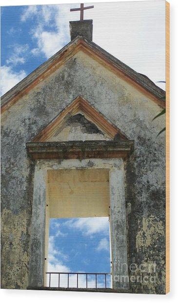 Eglise - Ile De La Reunion Wood Print by Francoise Leandre