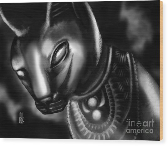 Egyptian Cat II Wood Print