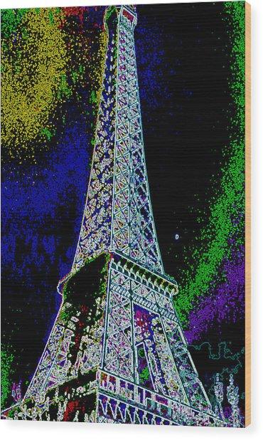Eiffel Wood Print by David Alvarez