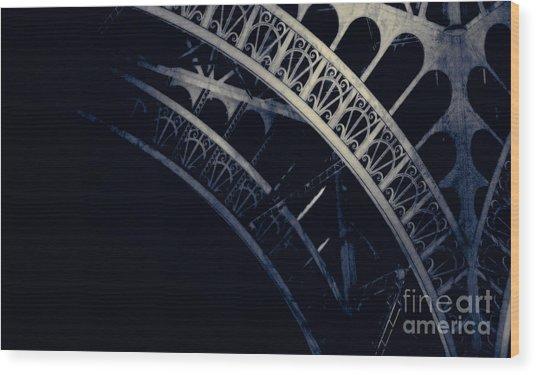 Eiffel Detail Wood Print