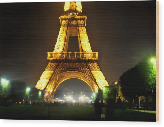 Eiffel Tower Abstract Wood Print by Scott Massey