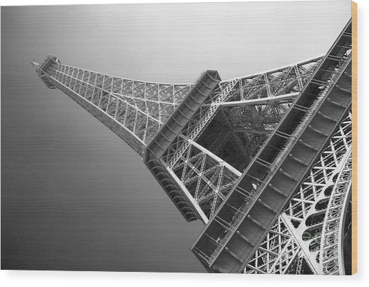 Eiffel Tower In Black And White Photograph By David Peters