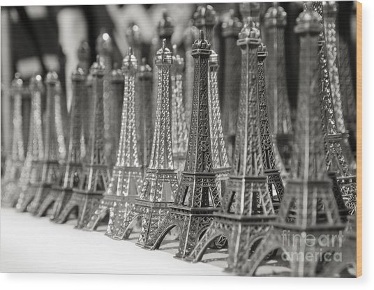 Eiffel Tower Miniature Wood Print
