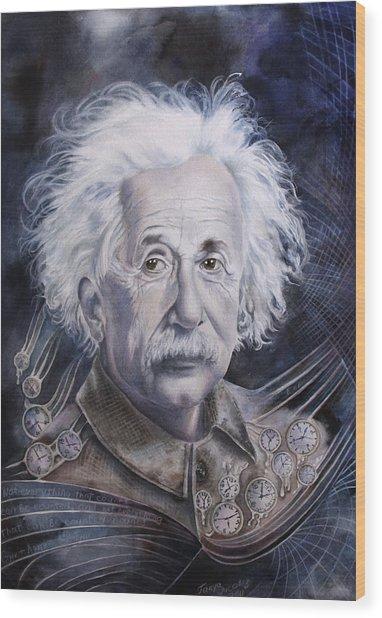 Einstein Wood Print by Tanya Jacobsz