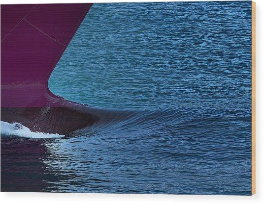 Elba Island - Purple Wave - Ph Enrico Pelos Wood Print