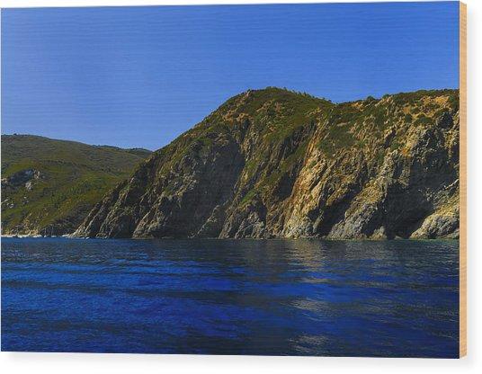 Elba Island - Blue And Green 2 - Blu E Verde 2 - Ph Enrico Pelos Wood Print