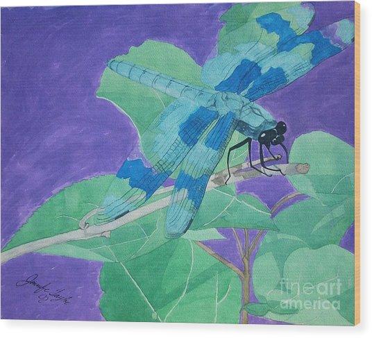 Electric Dragon Wood Print by Jennifer Taylor Rogerson