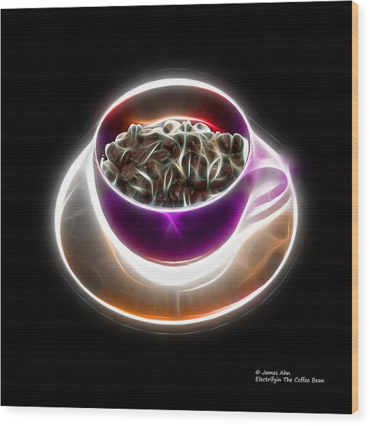 Electrifyin The Coffee Bean -version Violet Wood Print