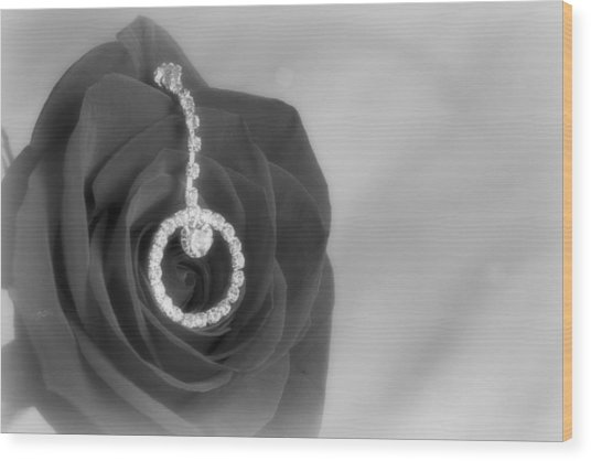 Elegance In Black And White Wood Print by Mark J Seefeldt