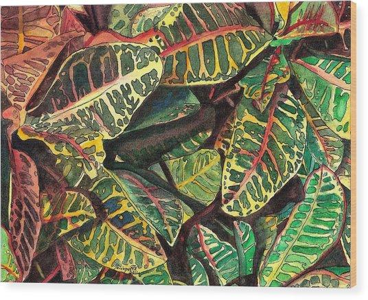 Elena's Crotons Wood Print