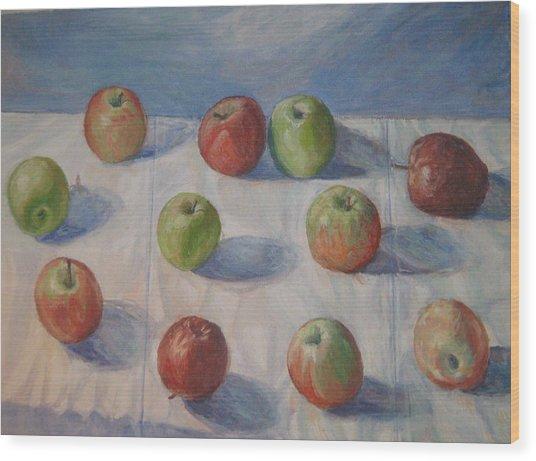 Eleven Apples Wood Print