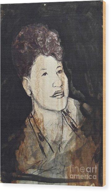 Ella Fitzgerald Wood Print