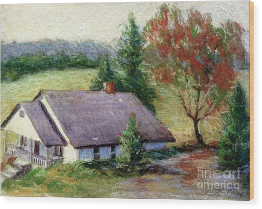 Ellijay Home Wood Print