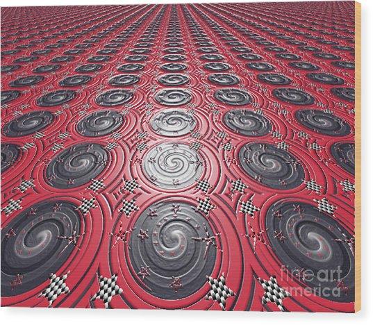 Embossed Record Tiles Wood Print by Jeannie Atwater Jordan Allen