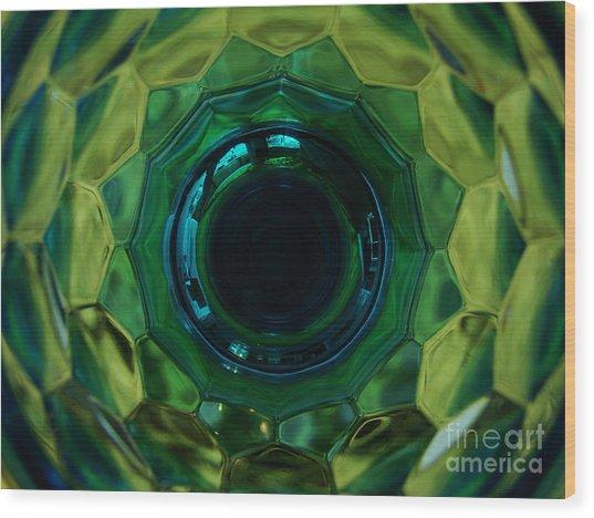 Emerald Eye Wood Print