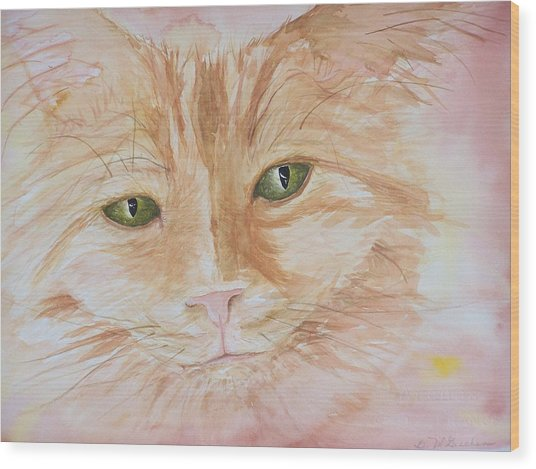 Emerald Eyes Wood Print