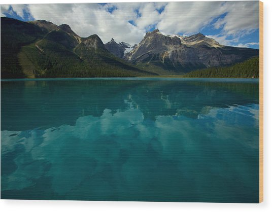 Wood Print featuring the photograph Emerald Lake by Jane Melgaard
