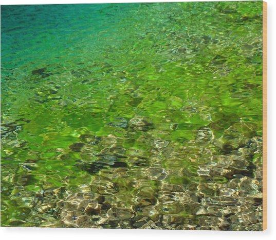 Emerald Reflections Wood Print