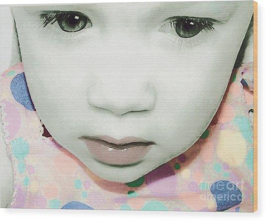 Emo Pop Baby Wood Print
