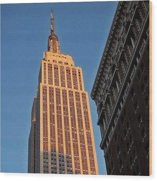 #empire #newyorker #newyork #ny Wood Print
