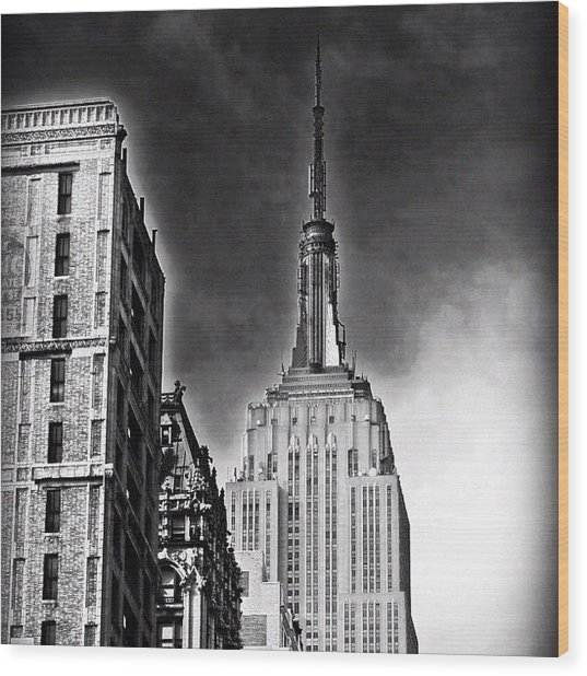 #empire #newyorker #ny #architecture Wood Print