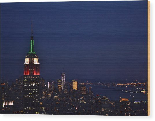 Empire State Building3 Wood Print