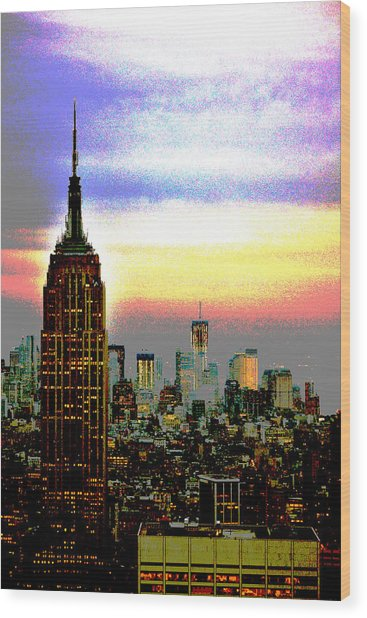 Empire State Building4 Wood Print