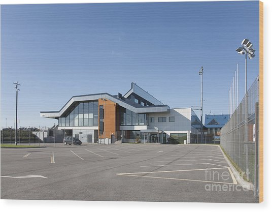 Empty Airport Parking Lot Wood Print by Jaak Nilson