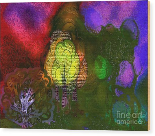 Enchanted Forest 3 Wood Print