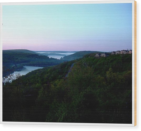 End Of A Perfect Day At Deep Creek Wood Print by Frank Wickham