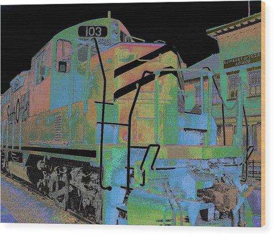Engine 103 Wood Print