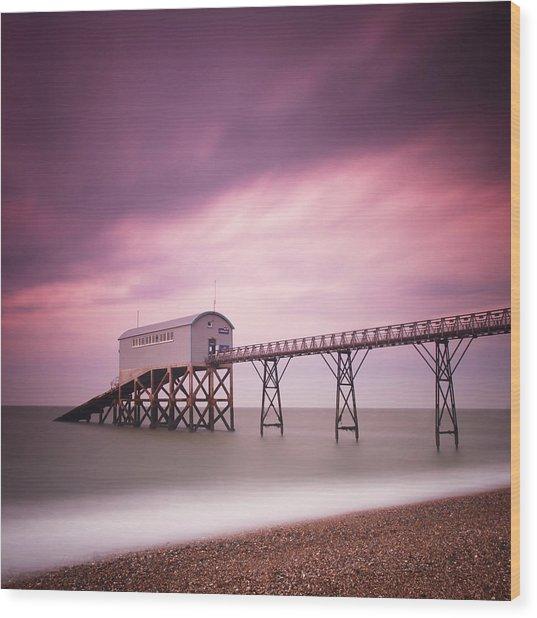 England Selsey Wood Print by Nina Papiorek