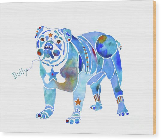 English Bulldog Bully Wood Print