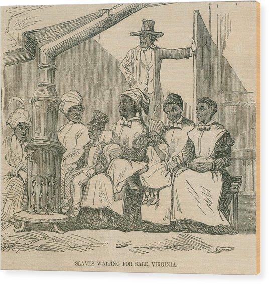 Enslaved African American Women Wood Print by Everett