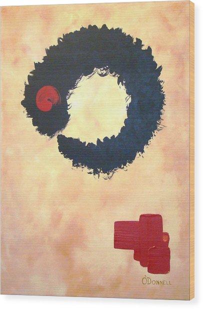 Enso Abstract Wood Print
