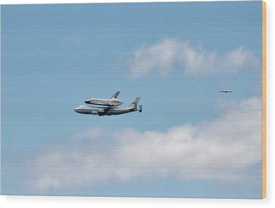 Enterprise Flyby Wood Print