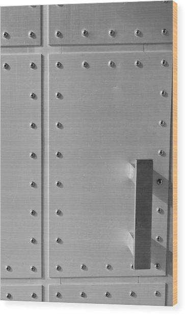 Entrance Secured Wood Print