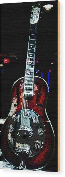 Eric Clampton's Guitar Wood Print by David Alvarez