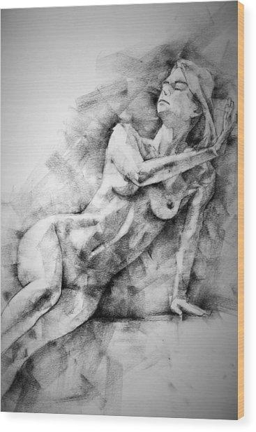 Erotic Sketchbook Page 2 Wood Print
