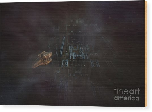 Escape In Space Wood Print