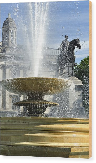 Essential Elements Of Trafalgar Square Wood Print by Vicki Jauron