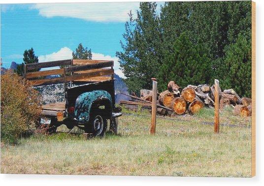 Estes Park Back Yard Wood Print
