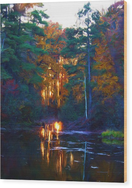 Ethereal Changing Light Wood Print